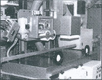 Offset marking machine